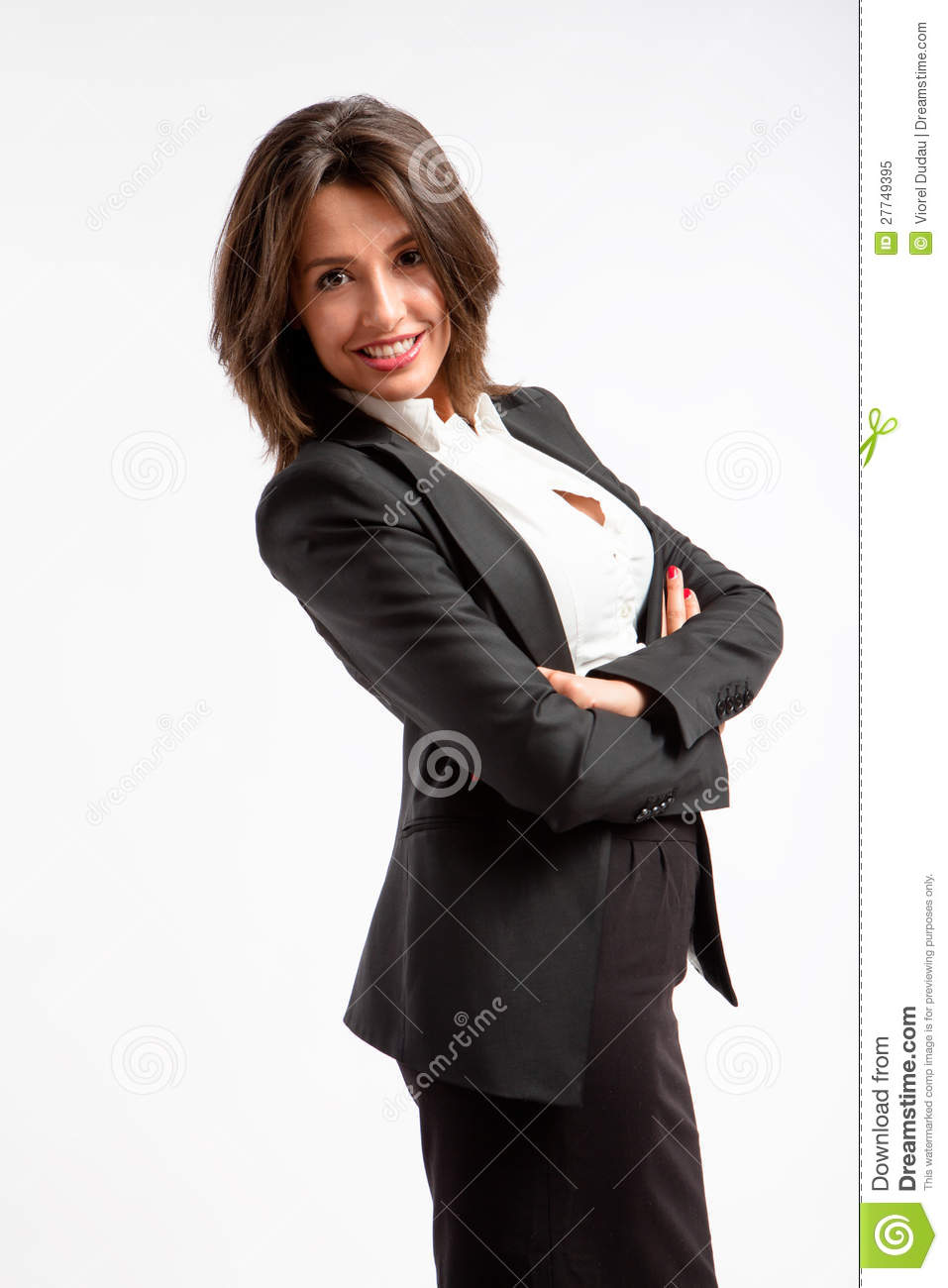 Smiling corporate woman