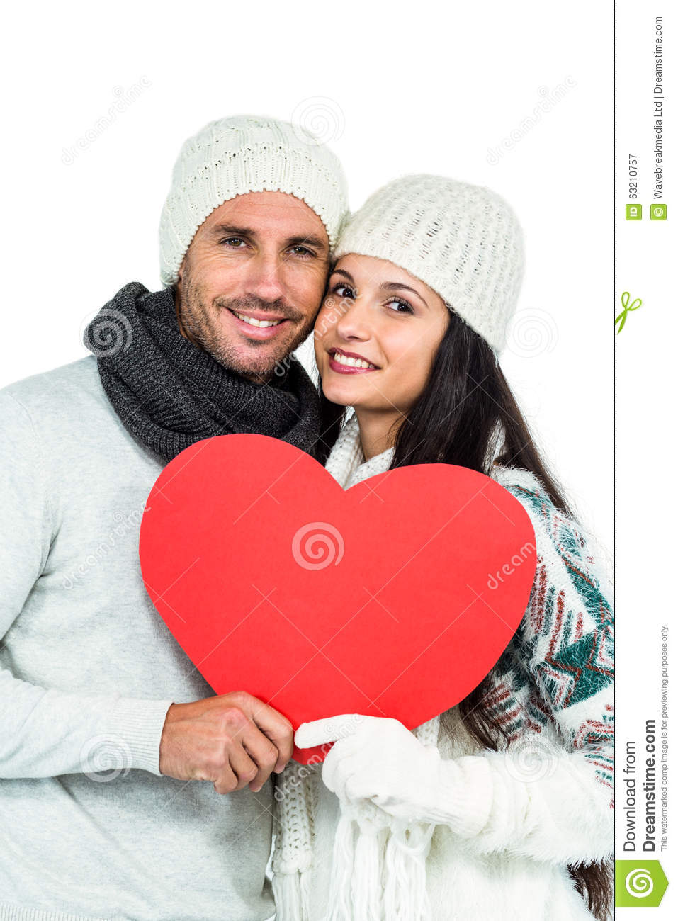 e1a4b89faf1 Smiling Couple Holding Paper Heart Stock Image - Image of beauty ...
