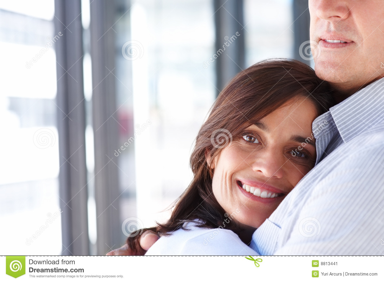stock image smiling couple hugging each other image 8813441