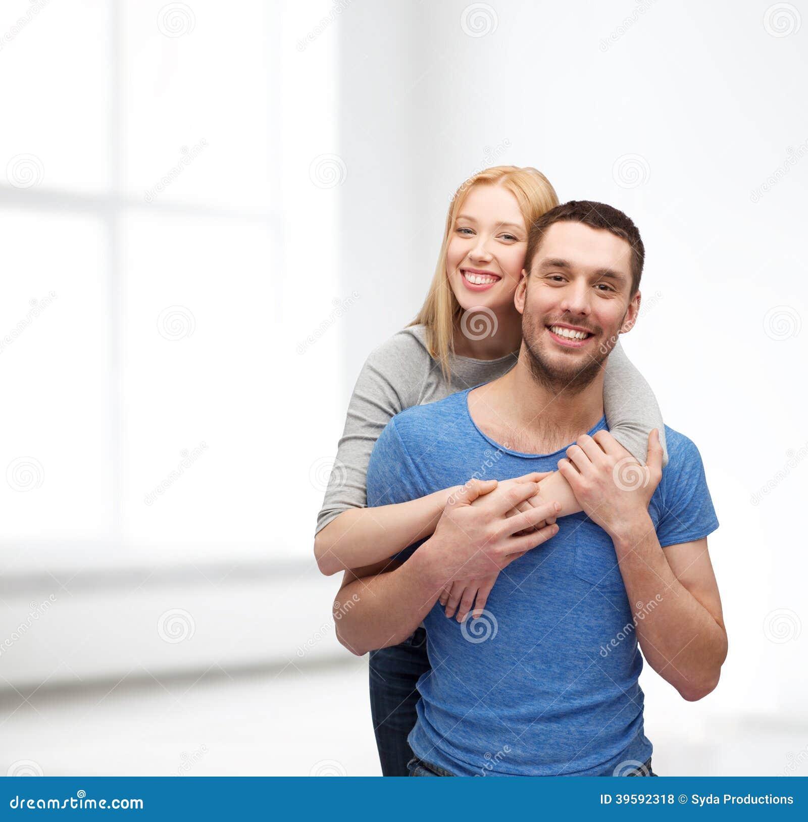Smiling Couple Hugging Stock Photo. Image Of Hugging