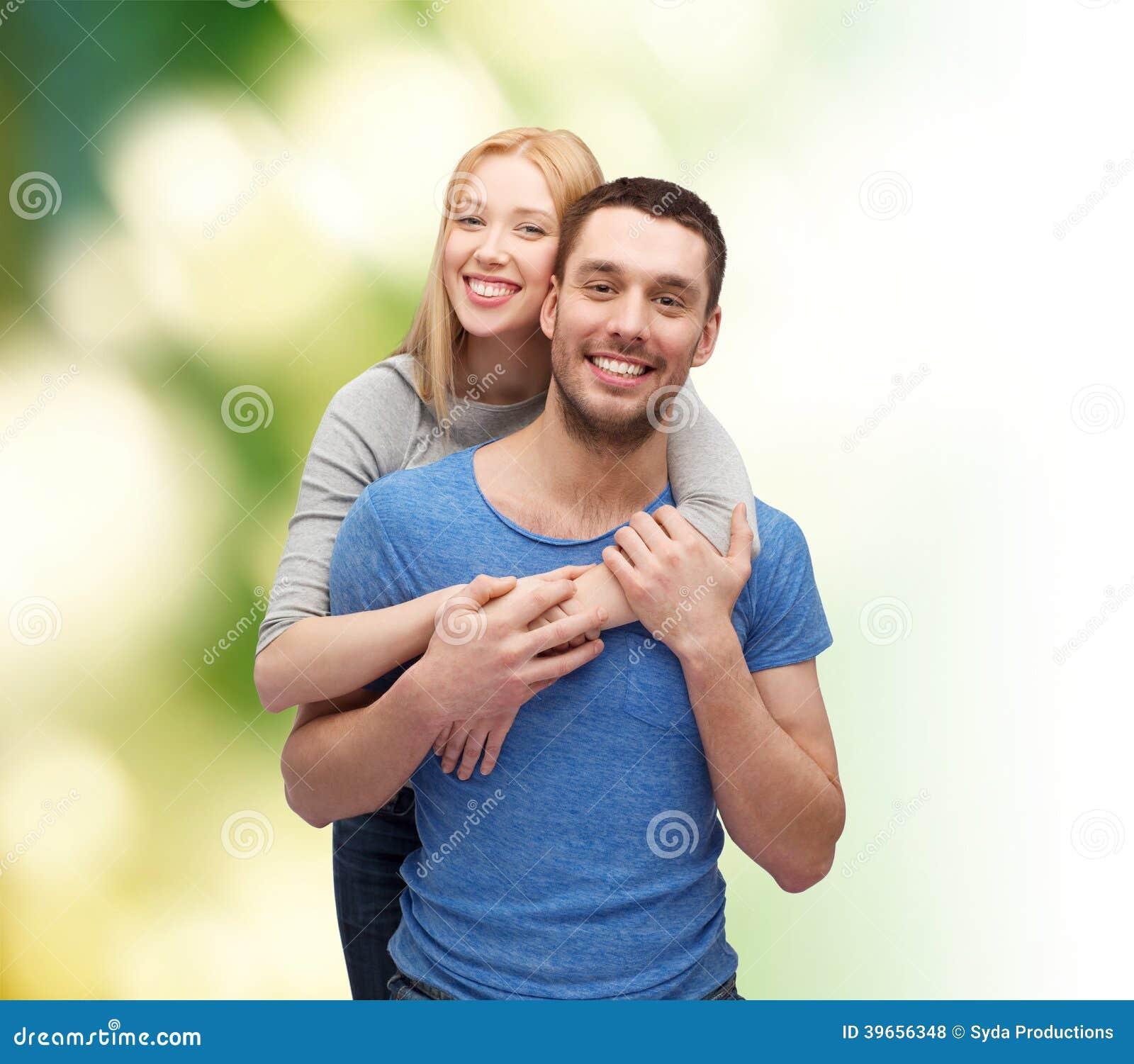 Smiling Couple Hugging Stock Photo. Image Of Joyful, Adult
