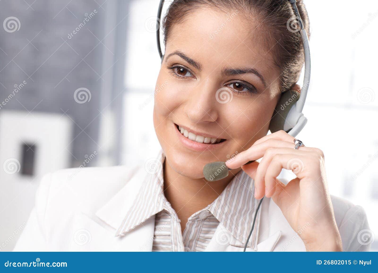 Smiling Customer Service Representative Royalty Free Stock