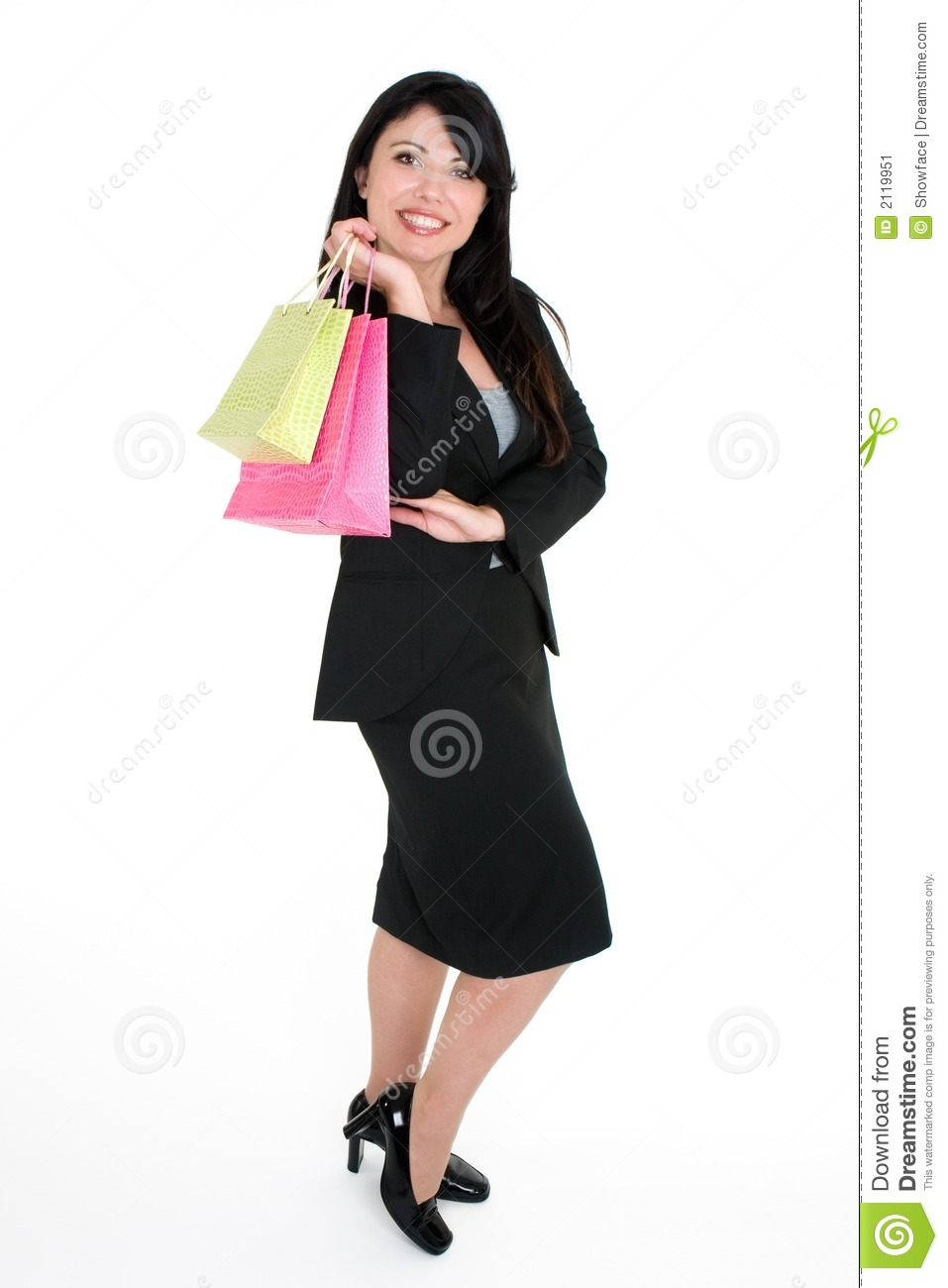 Smiling Customer Shopping Bags Stock Image - Image: 2119951