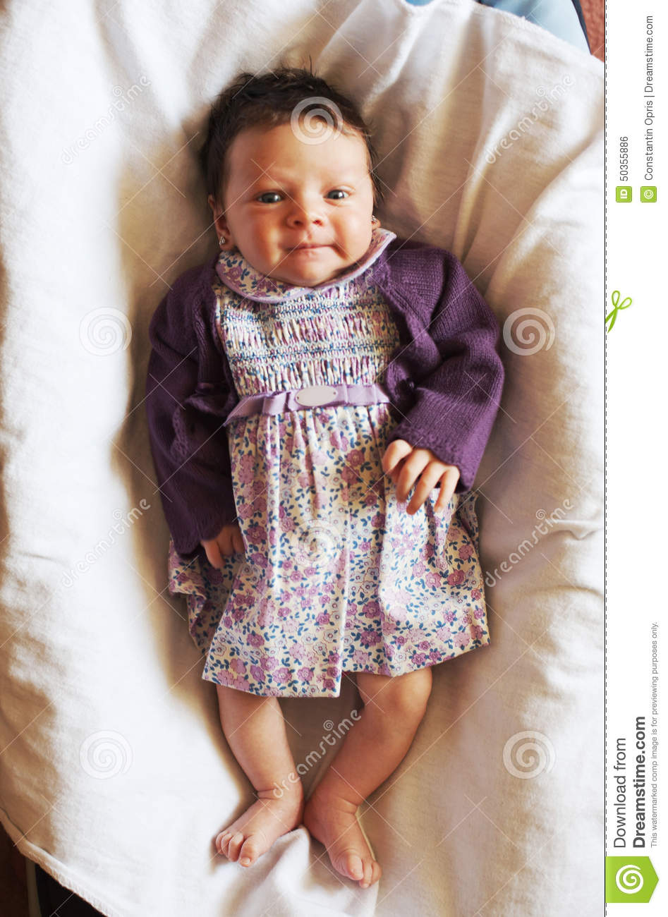 Smiling Cute Little Baby Girl Stock Photo - Image of infant fad4e2e1cb0d