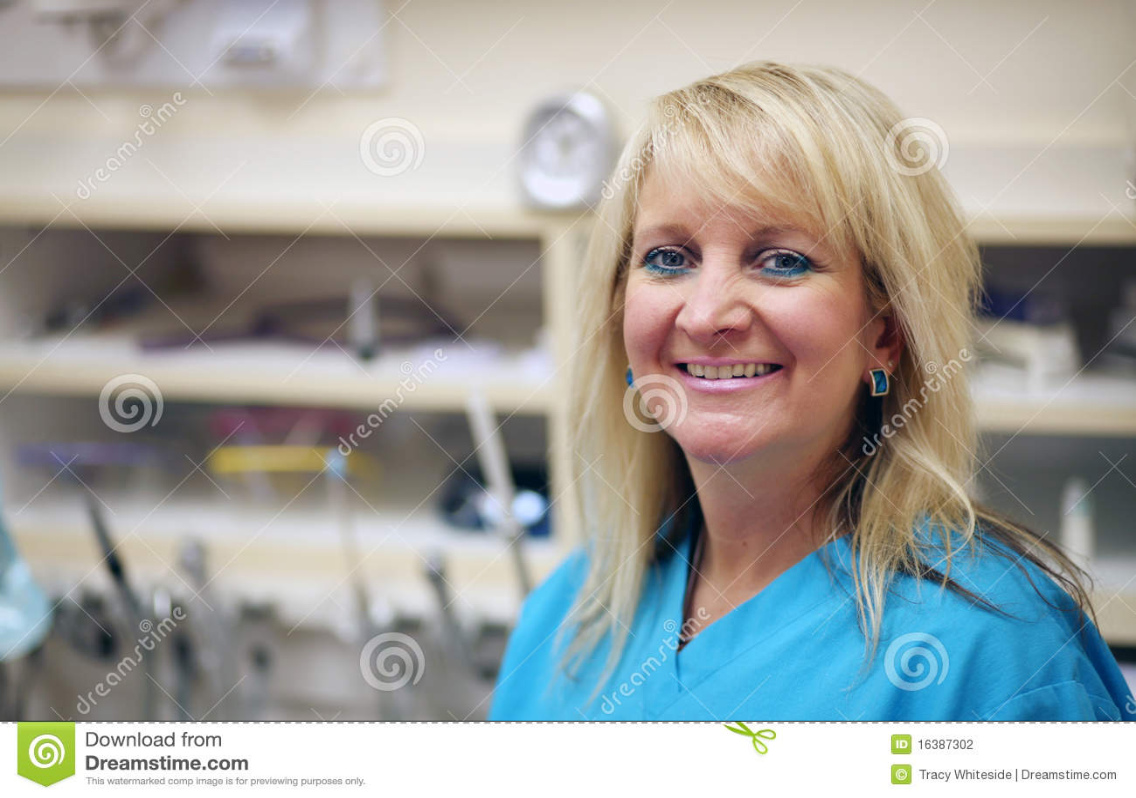 Smiling dental assistant
