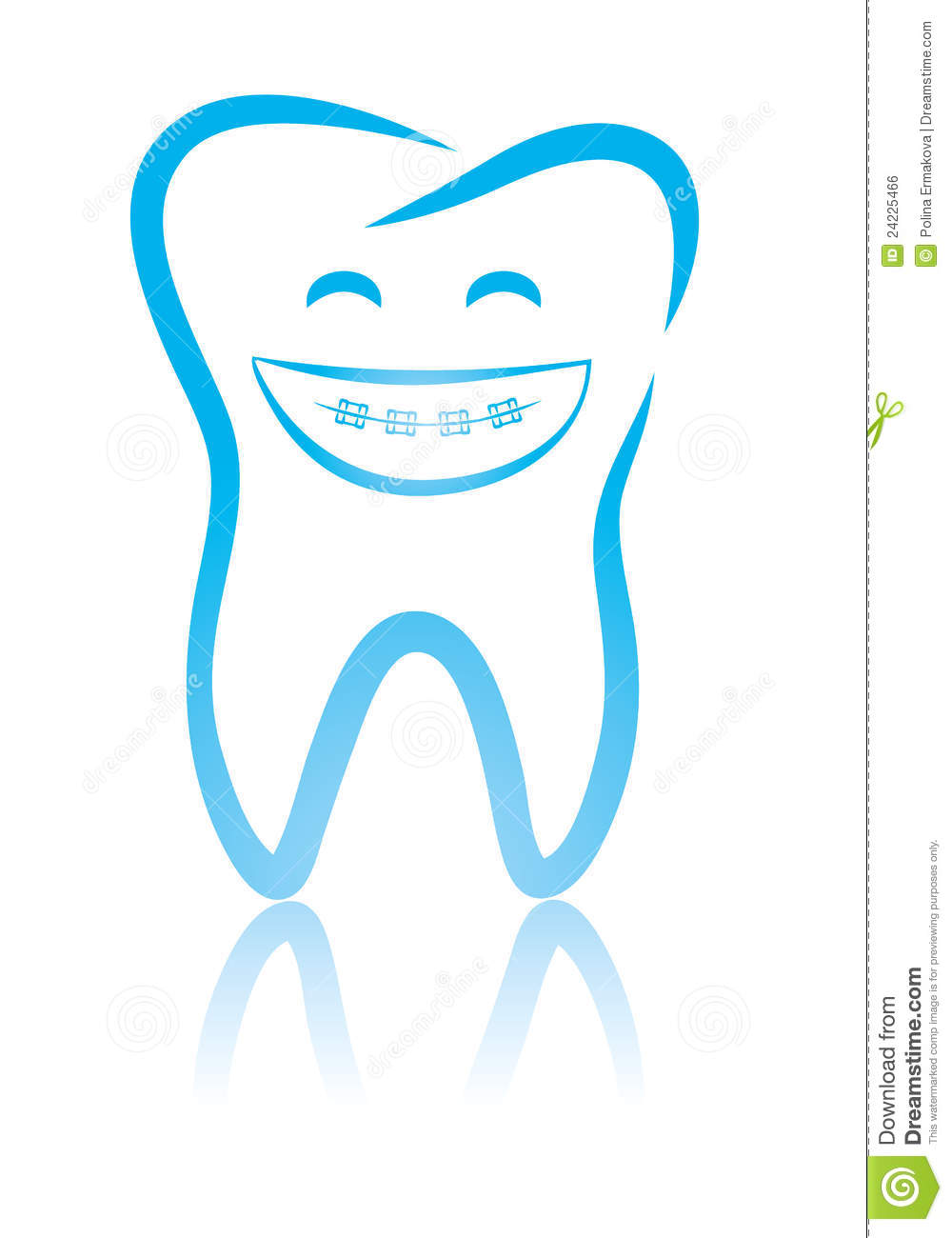 ... Dental Tooth With Braces Royalty Free Stock Image - Image: 24225466
