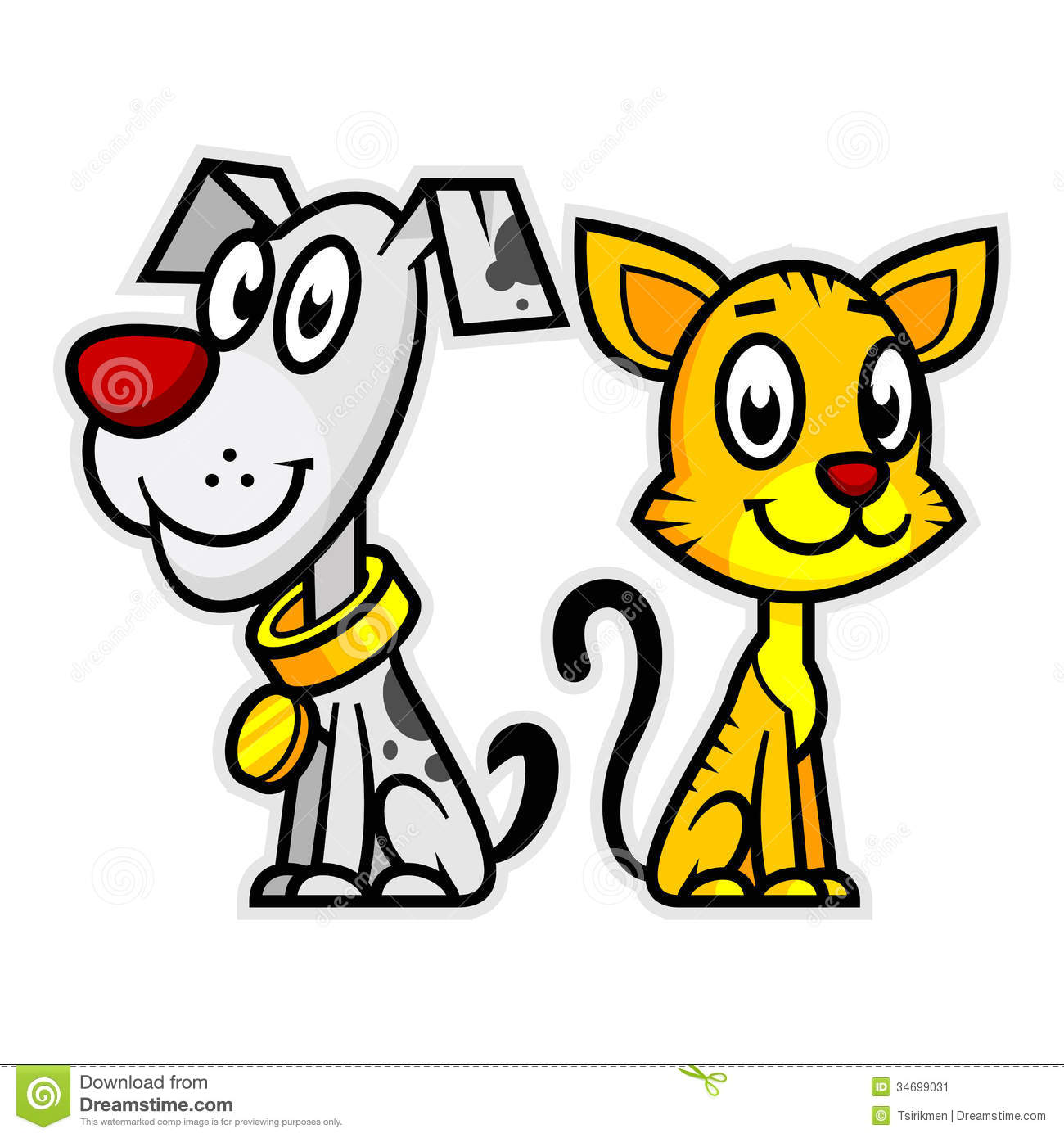 Smiling Dog And Cat Stock Image - Image: 34699031