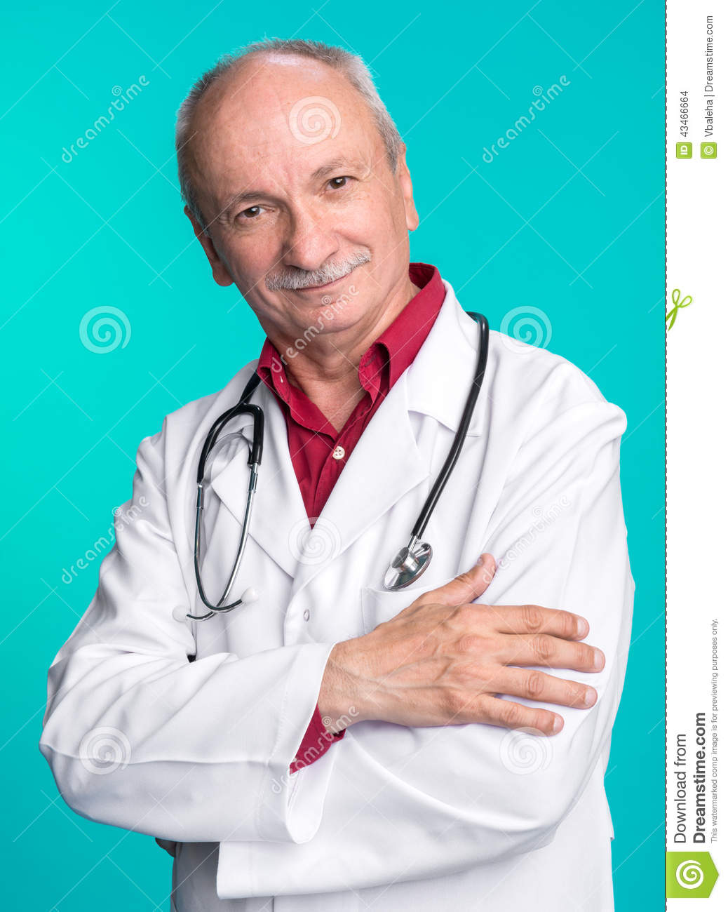Smiling edical doctor with stethoscope