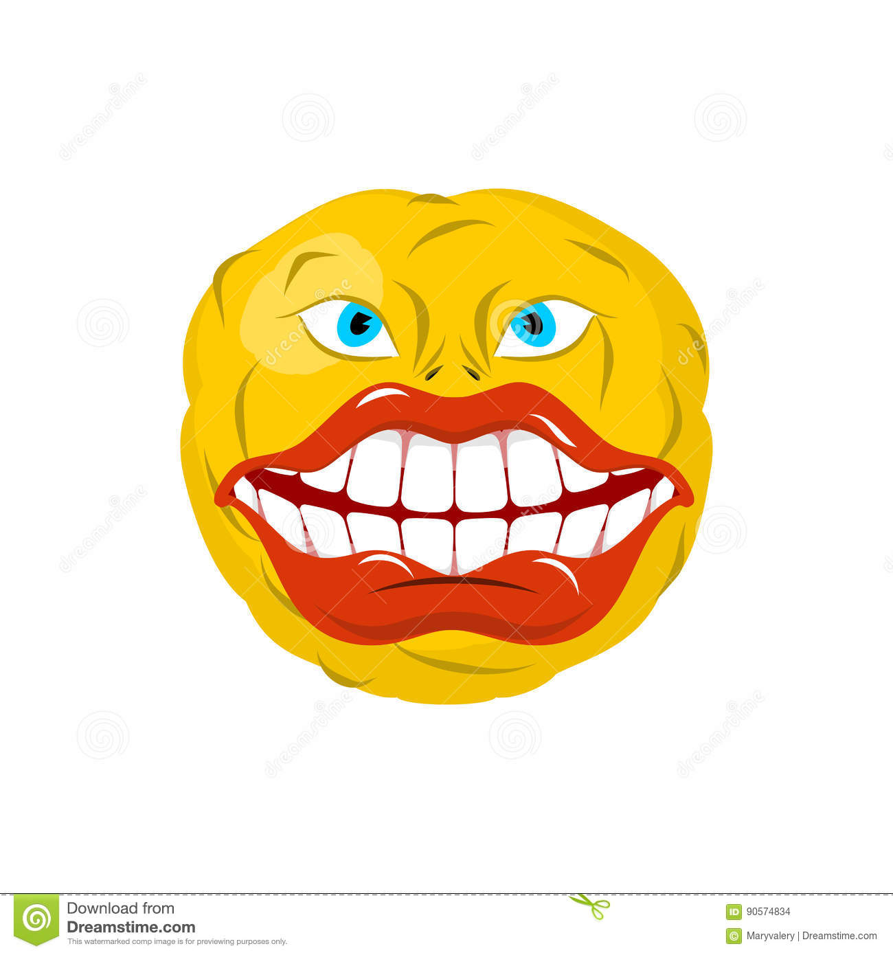 Crazy emoji happy is an emotion yellow ball
