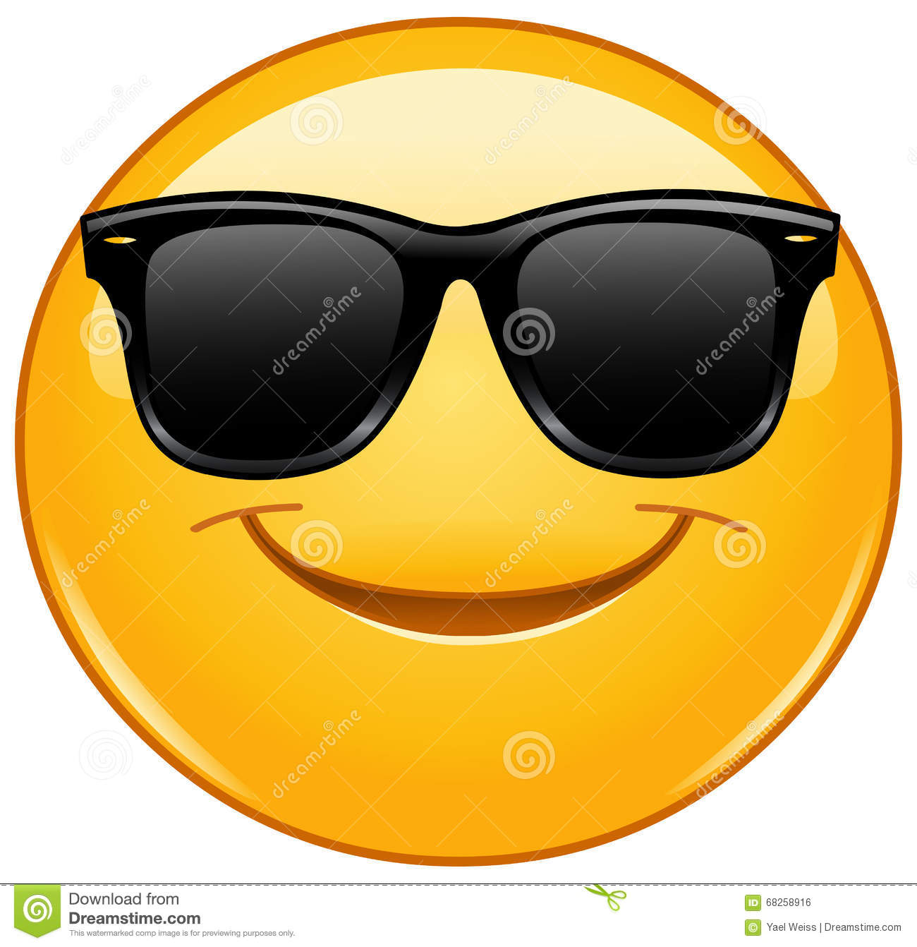 smiling emoticon with sunglasses stock vector image clip art sunglasses clip art glass slides