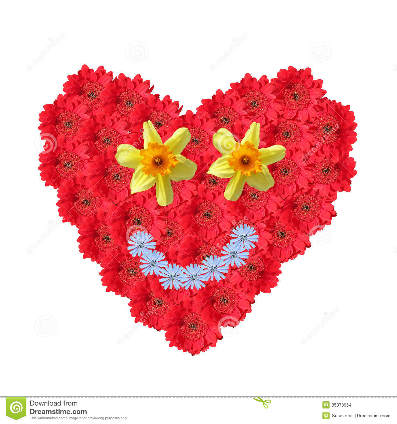 smiling heart with flower stock image  image, Beautiful flower