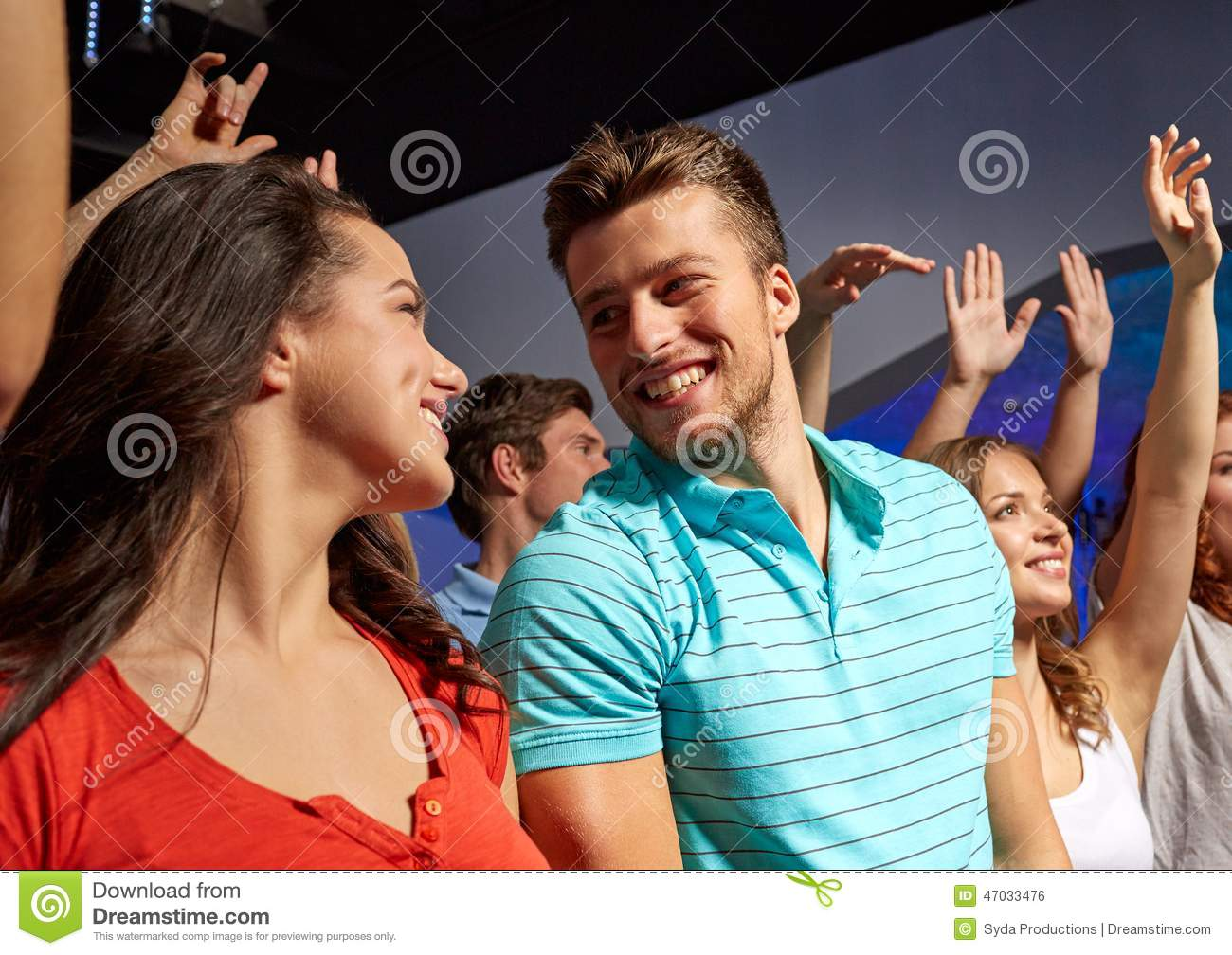 Smiling Friends At Concert In Club Stock Photo - Image of ...