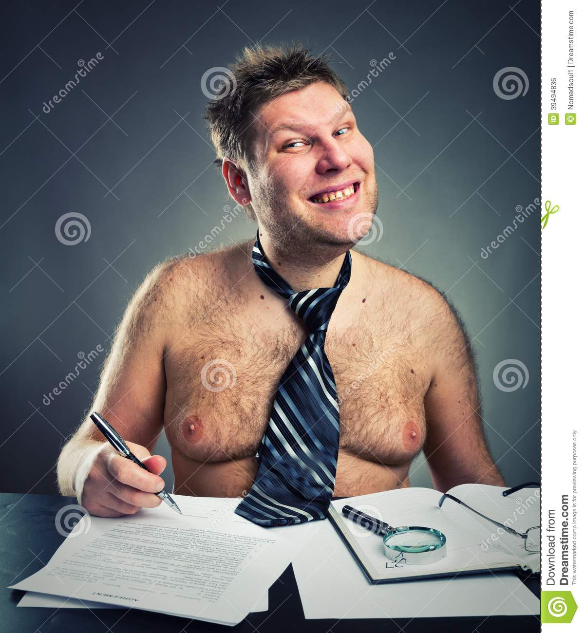 Download Smiling funny businessman stock photo. Image of career - 39494836