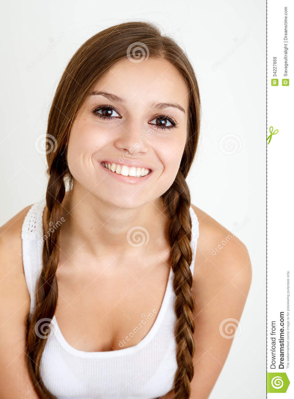 Smiling Girl With Braids Royalty Free Stock Images Image