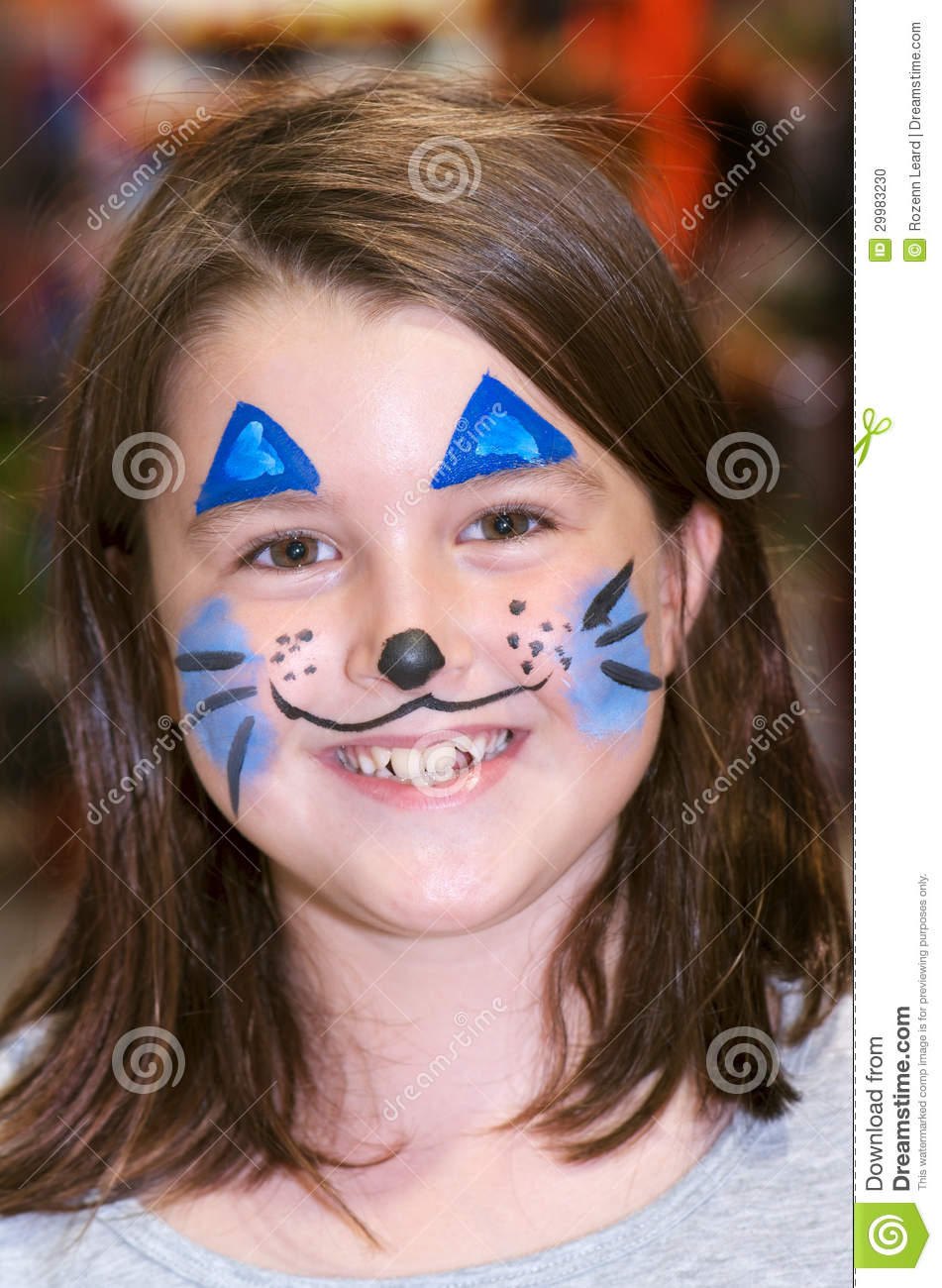 Bunny face painting stock photo image 29983230 - Resource com verven ...