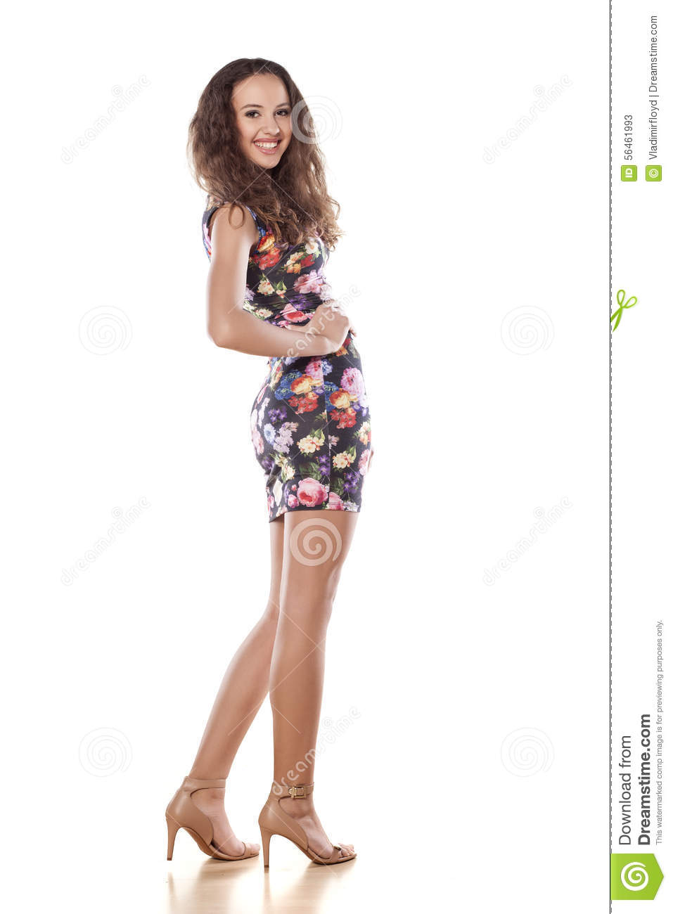 Smiling Girl Stock Image Image Of Flower Smile
