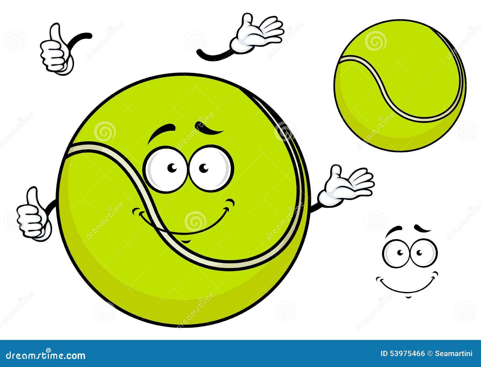 Tennis ball mascot stock photos tennis ball mascot stock photography - Smiling Green Cartoon Tennis Ball Royalty Free Stock Image