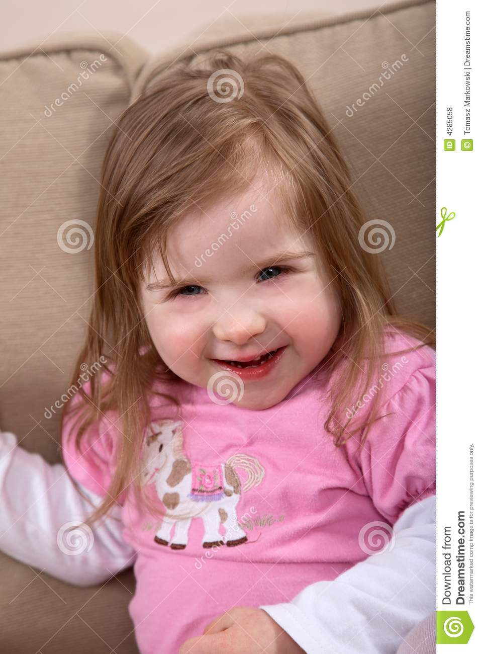 Smiling handicapped toddler