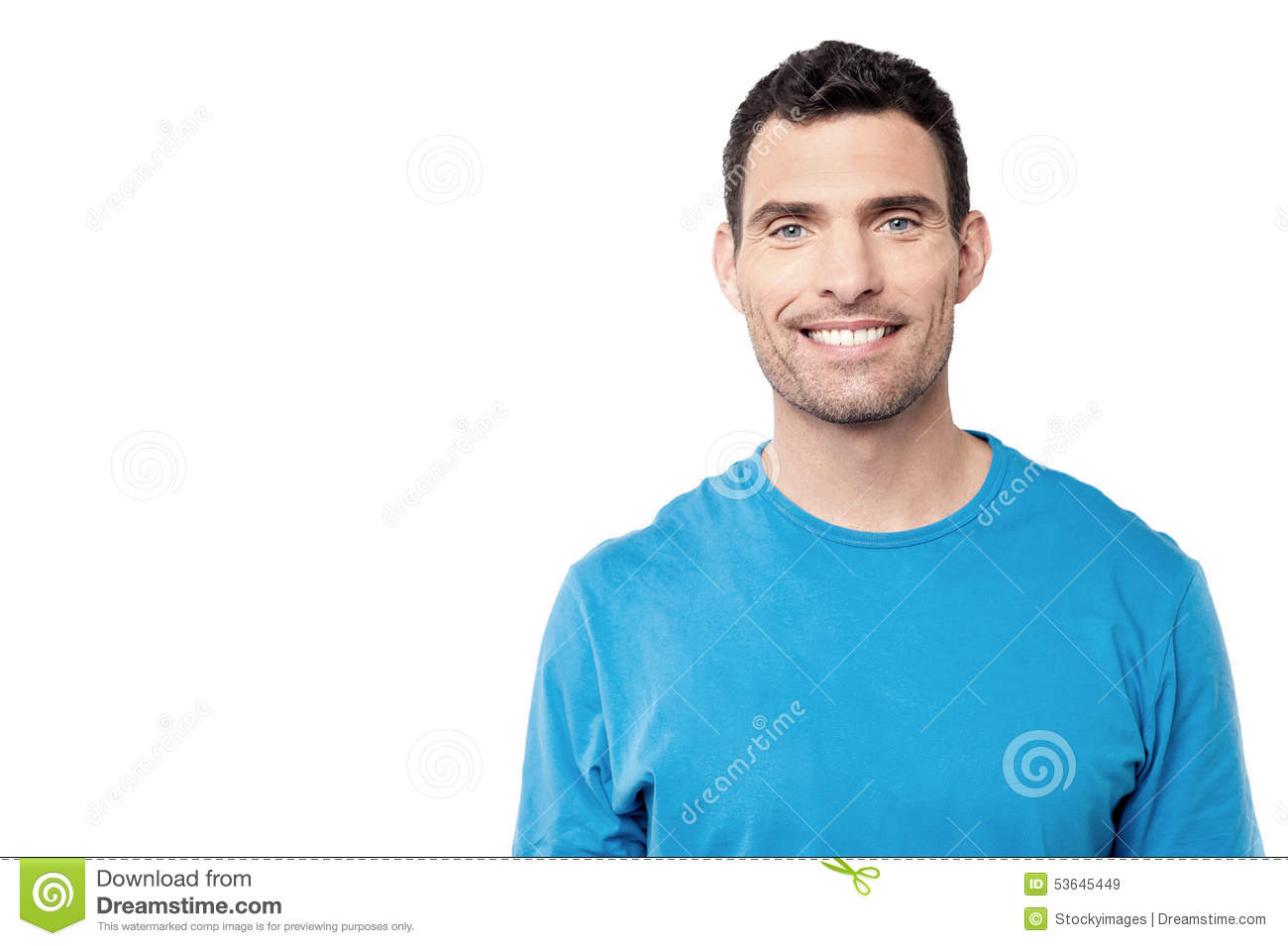 Smiling handsome middle aged man