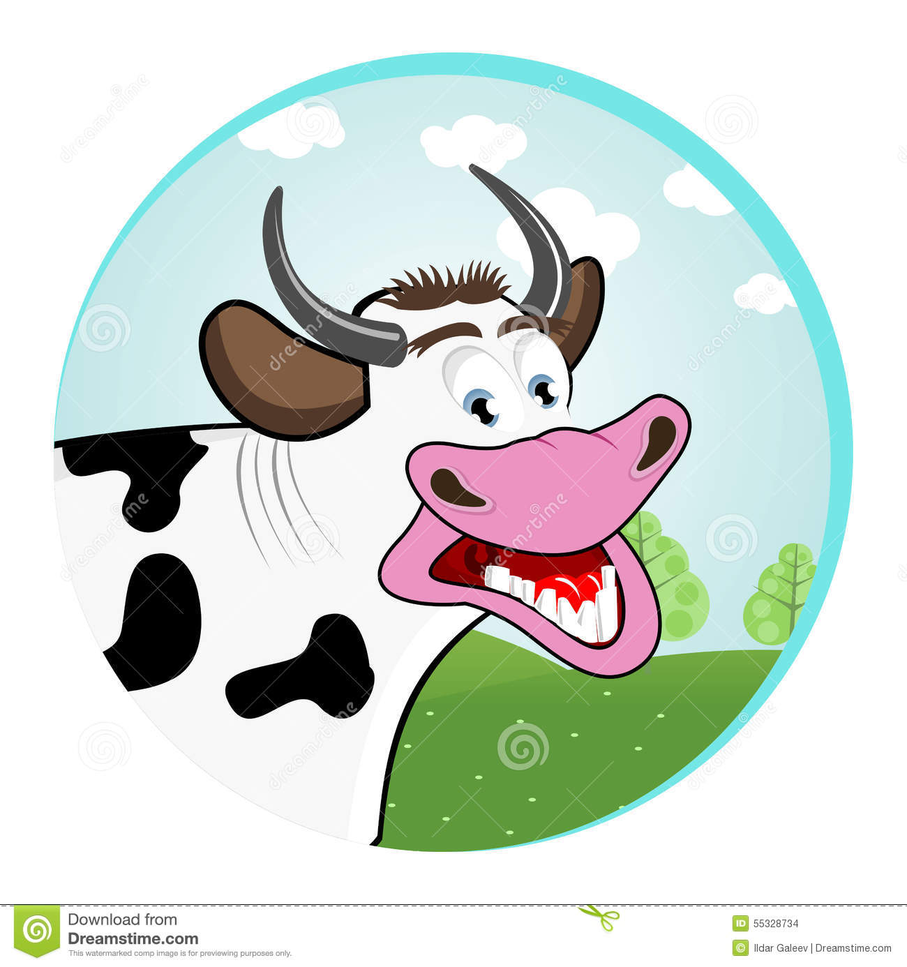 Funny cow smiling - photo#28