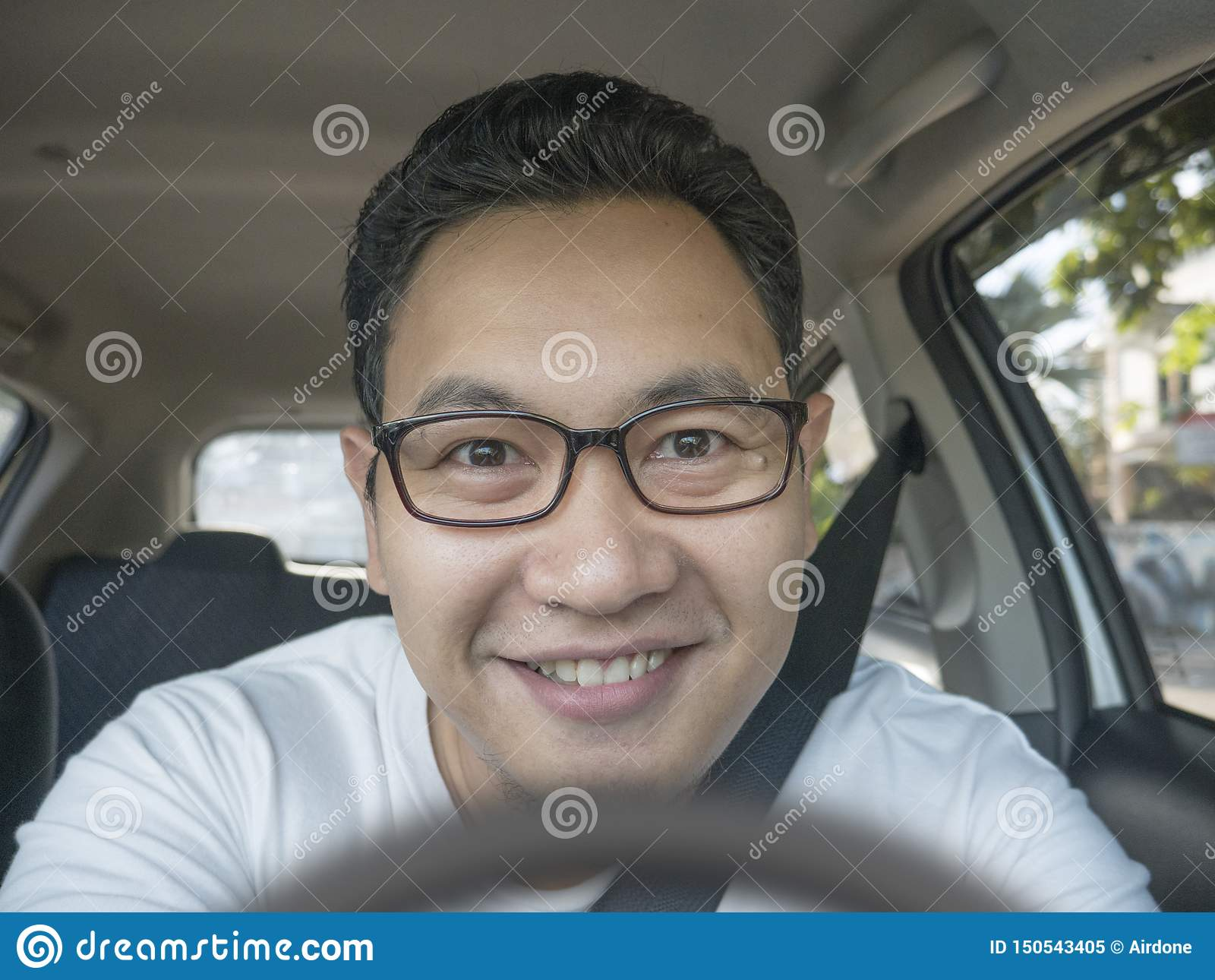 Smiling Happy Male Driver