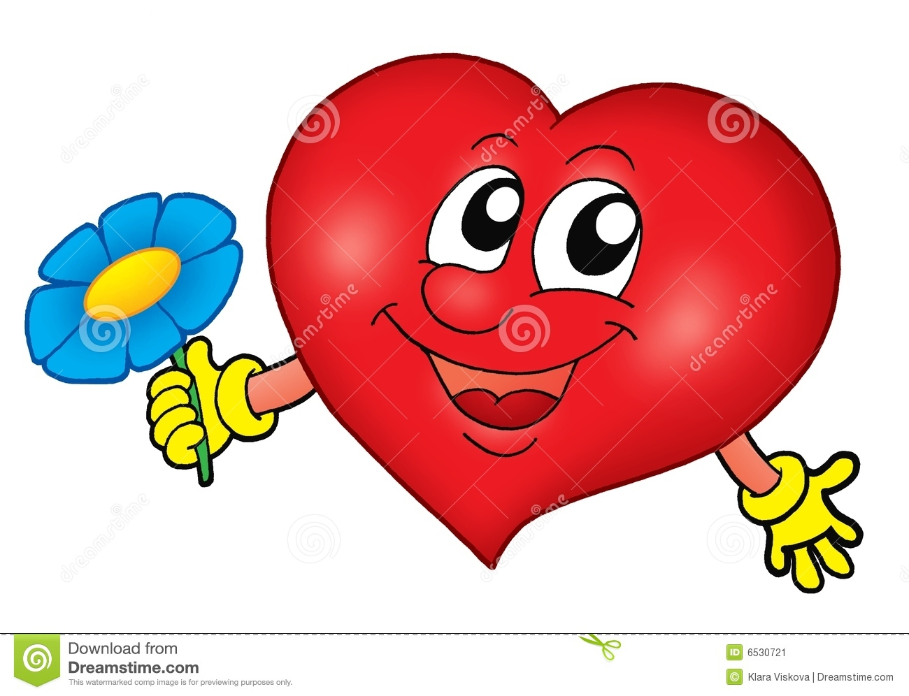 Smiling heart with flower stock image image 6530721 - Coeur avec des photos ...