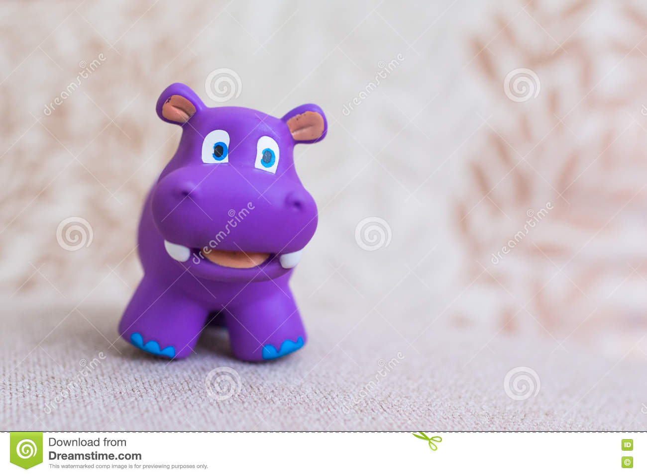 Smiling hippo toy violet