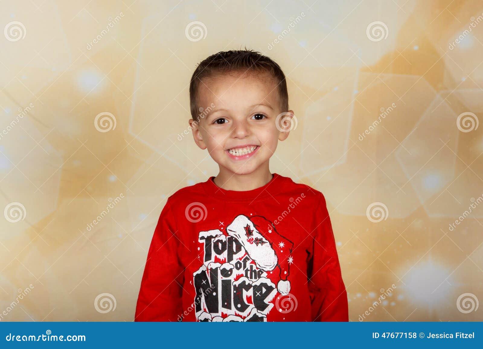 Smiling holiday boy