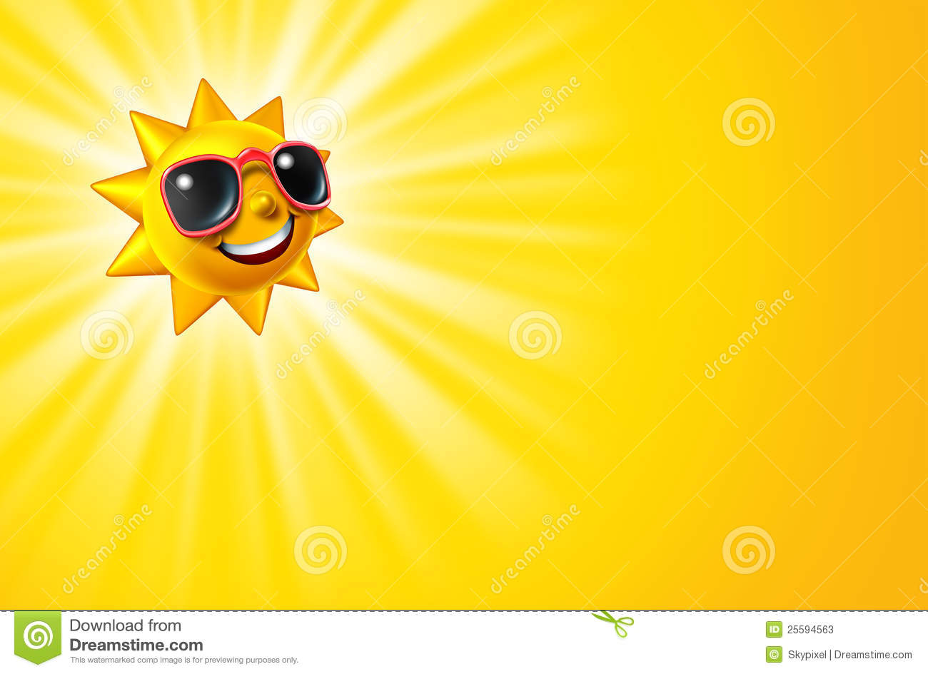 Cool Smiley Face Thumbs Up Smiling Hot Yellow Sun...
