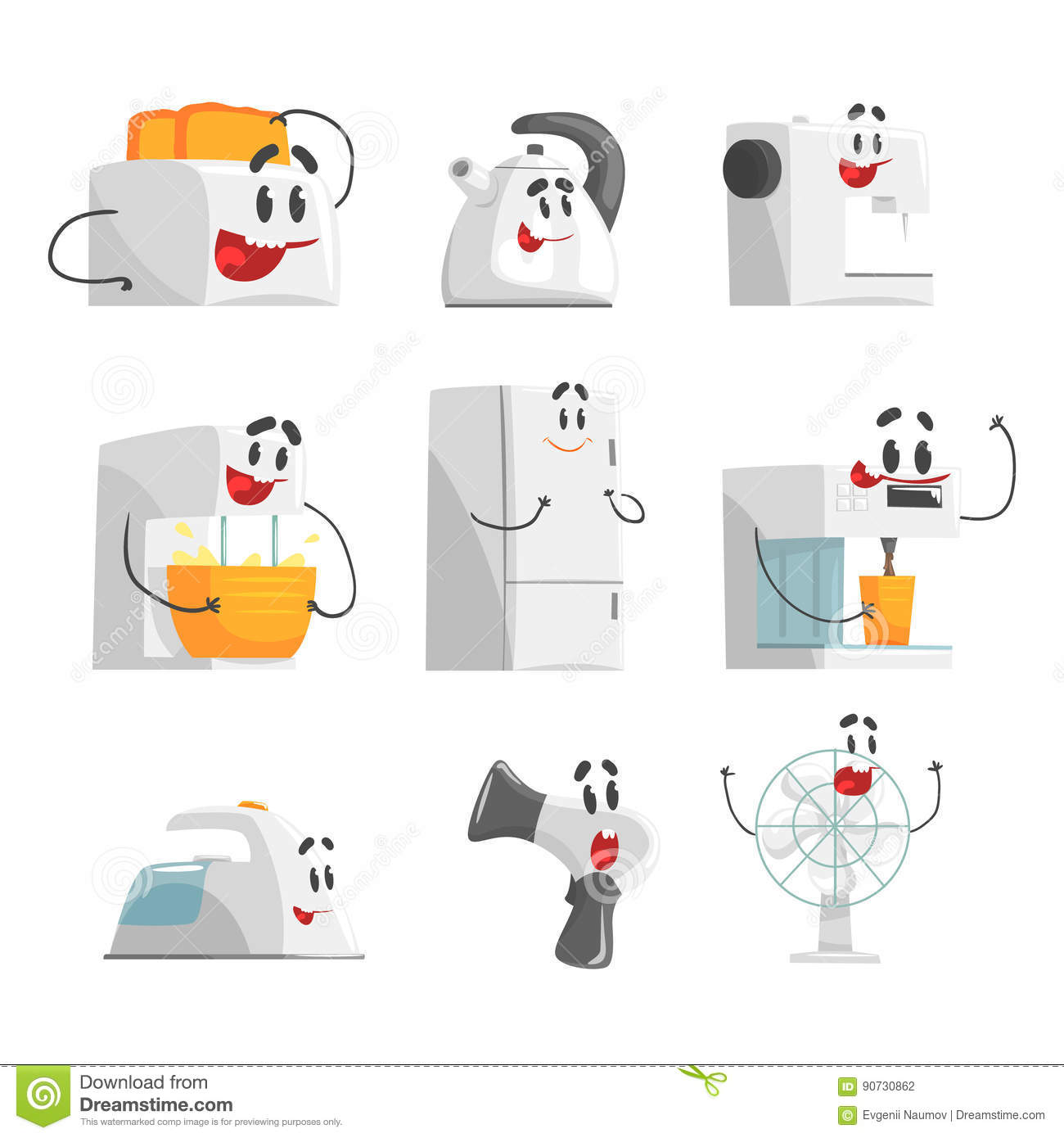 Appliances cartoons illustrations vector stock images for Household electrical design