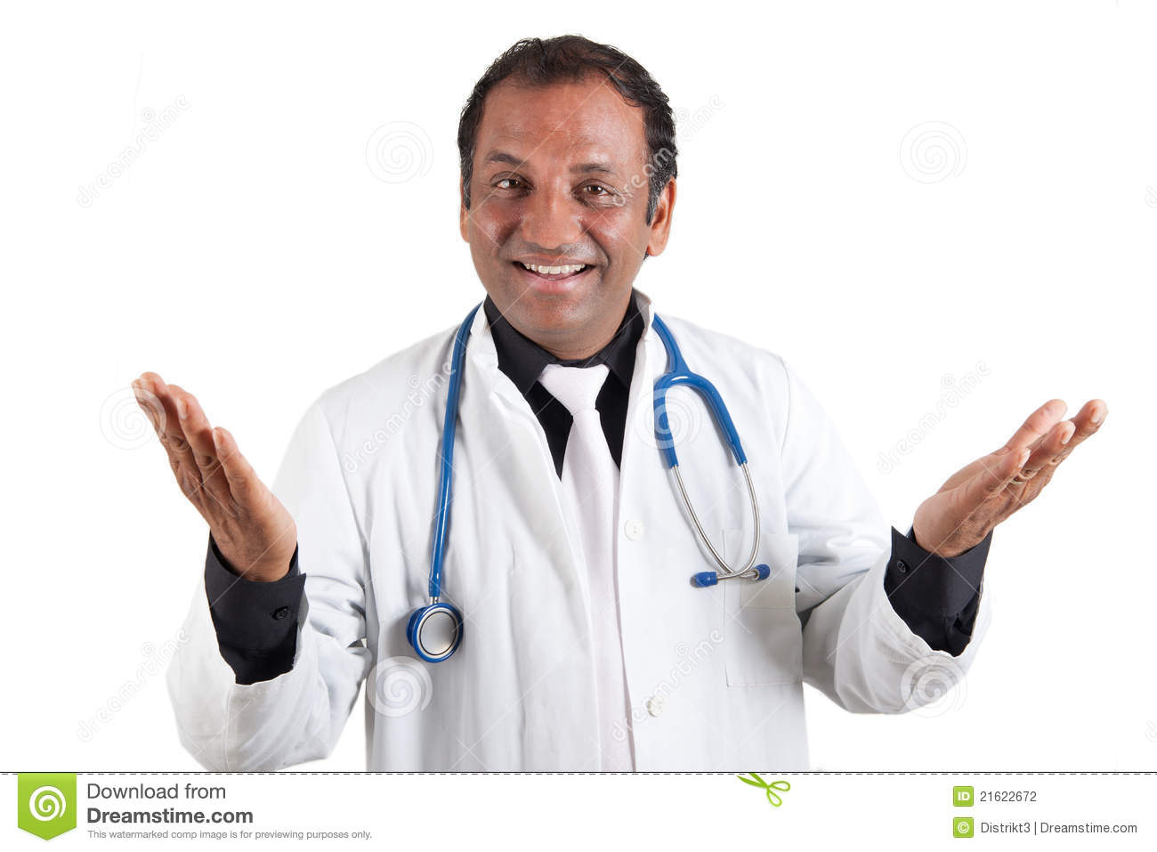 Smiling Indian Doctor Stock Photography - Image: 21622672