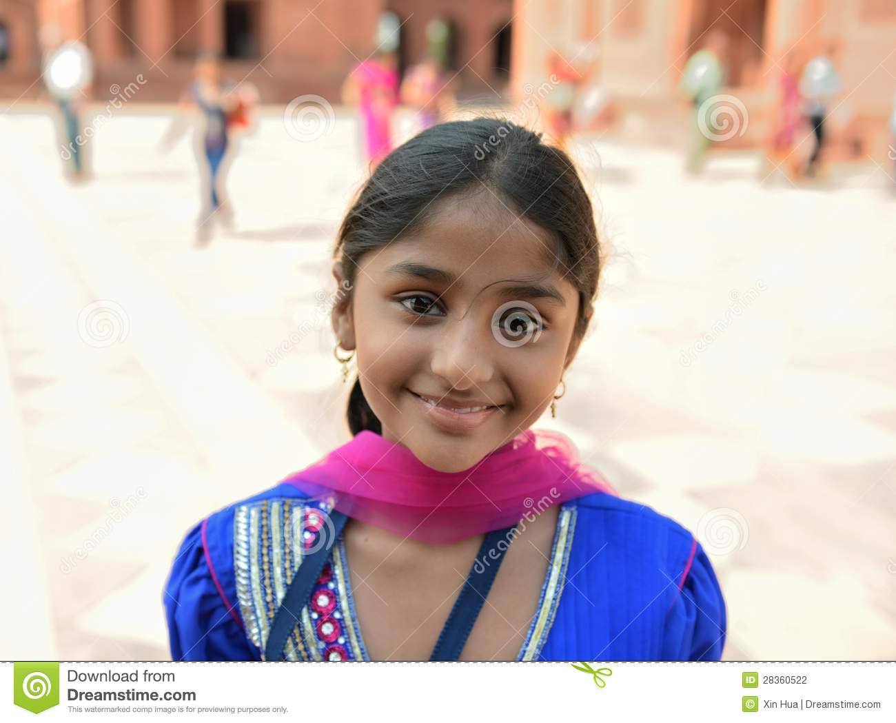 Smiling Indian Girl editorial photography. Image of face - 28360522