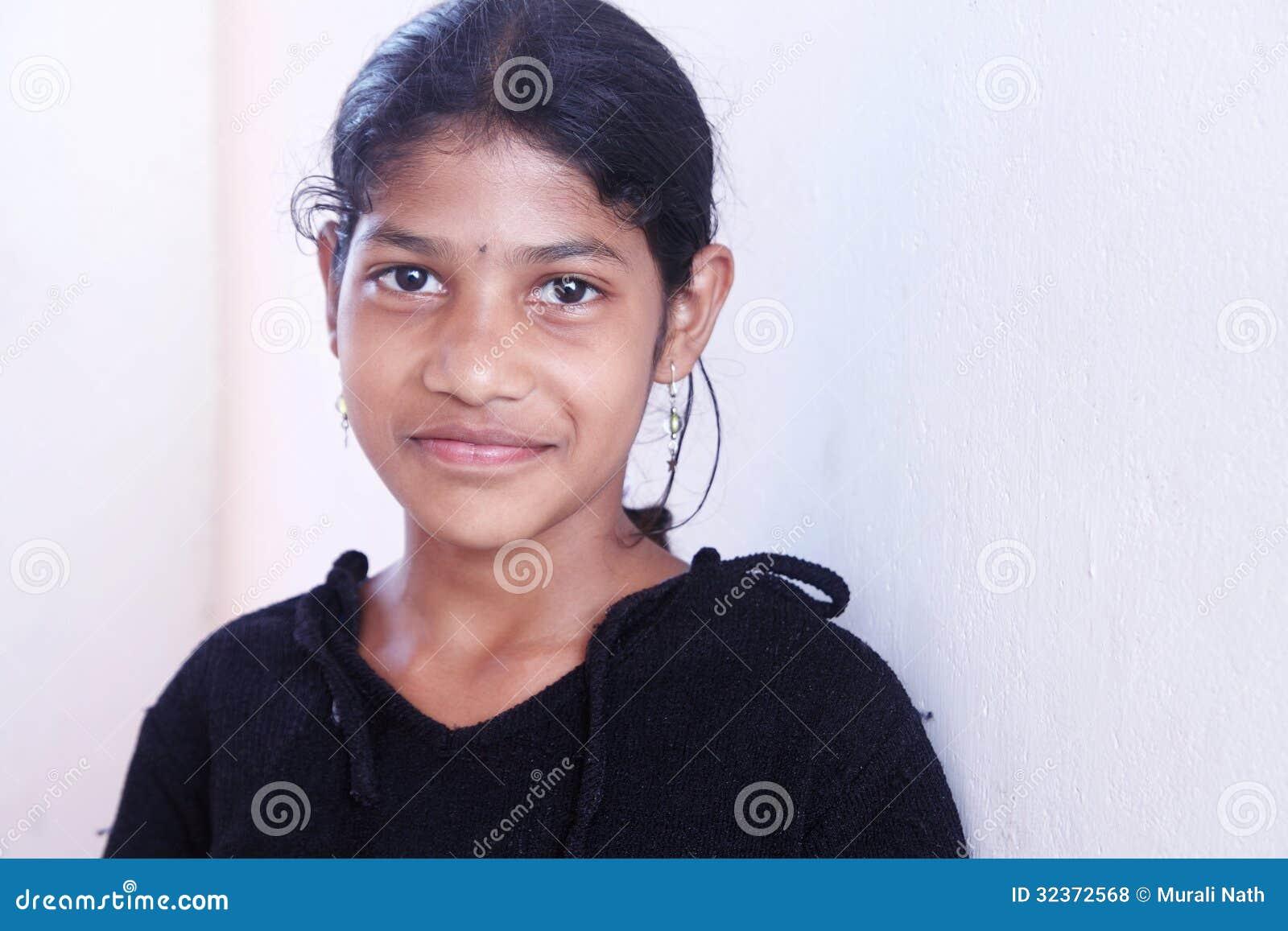 Smiling Indian Village Girl Royalty Free Stock Photos - Image 32372568-8347