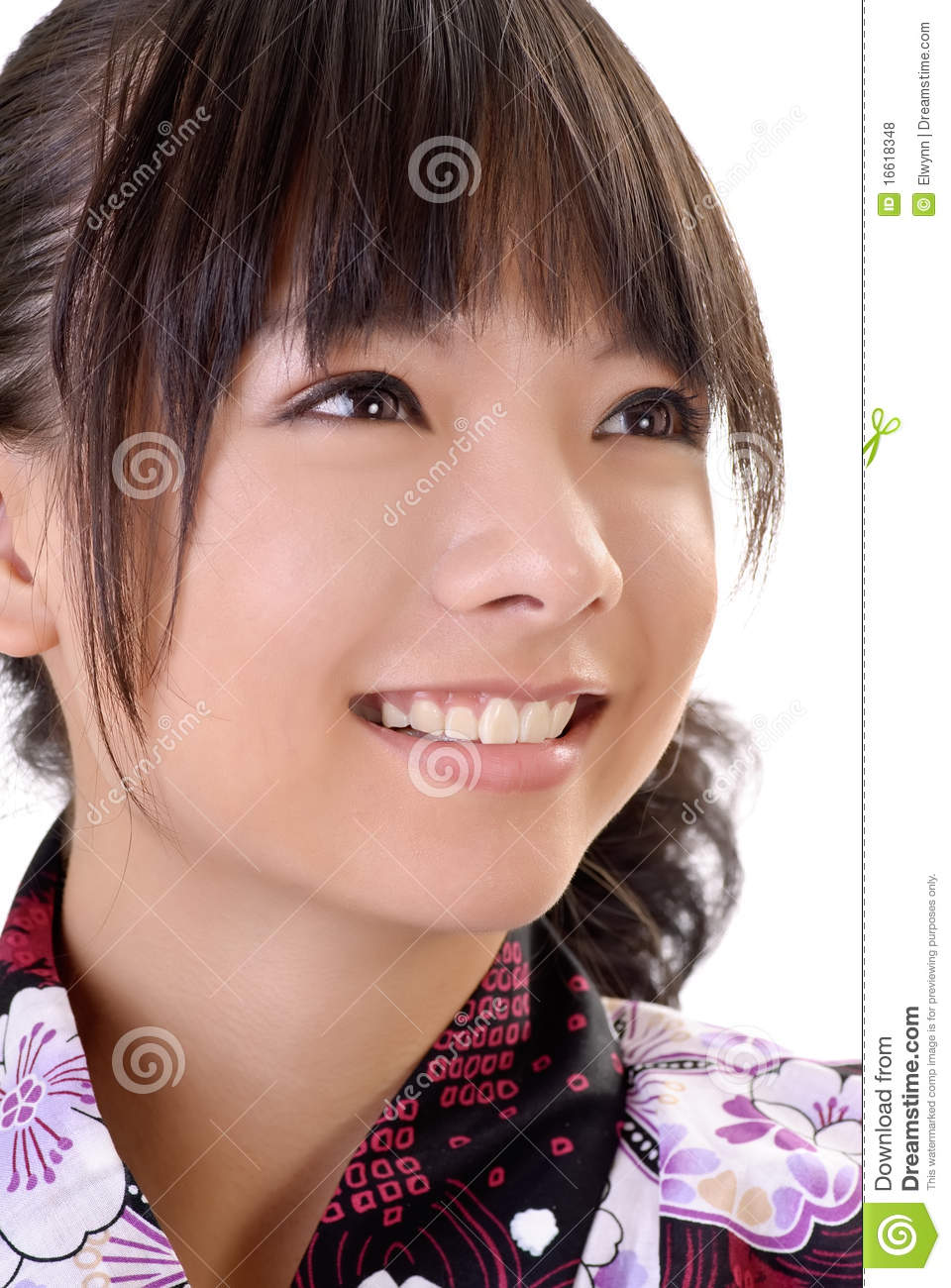 Smiling Japanese Girl Royalty Free Stock Photos Image