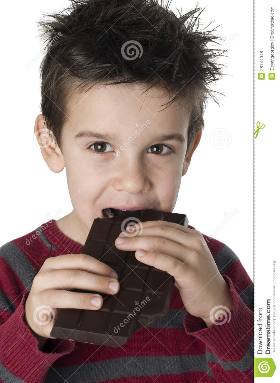 Smiling Kid Eating Chocolate Royalty Free Stock Photos ...