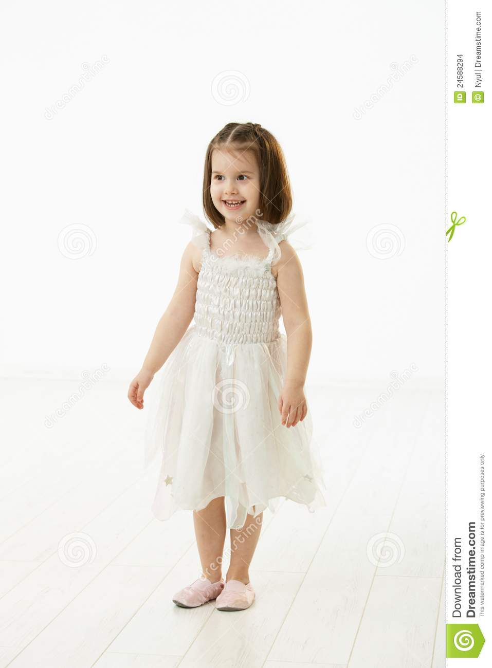 4e658a4fa26e Smiling Little Girl In Ballet Costume Stock Photo - Image of ...