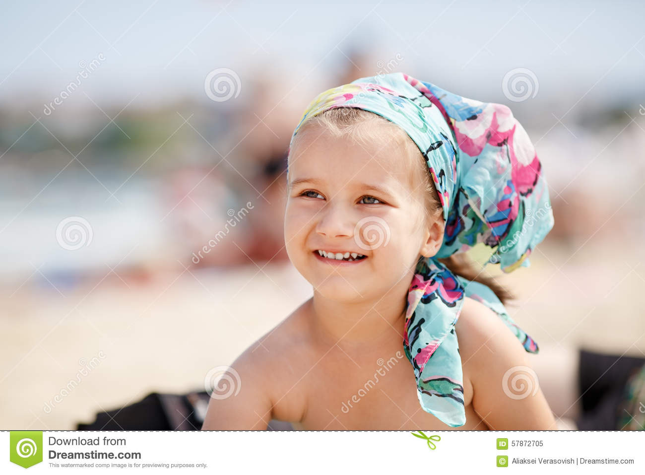 Smiling Little Girl Stock Photo Image 57872705