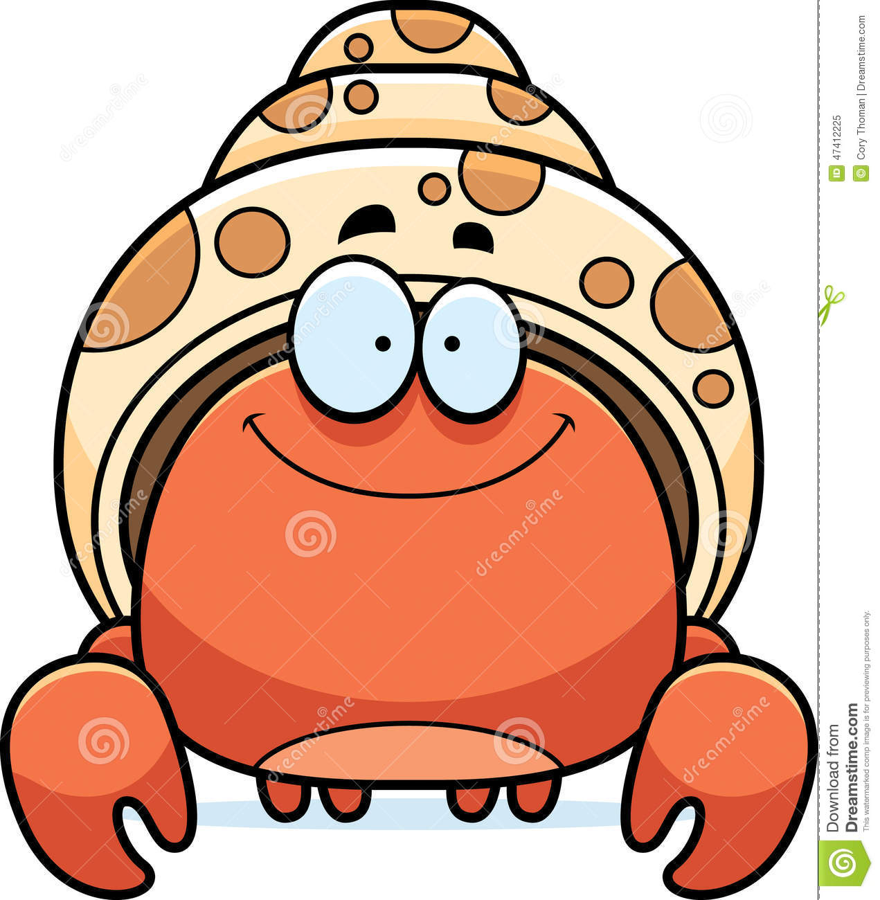 Hermit Crab Cartoon Stock Photo, Picture And Royalty Free Image ...