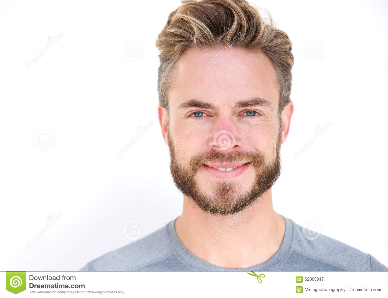 Smiling man with beard