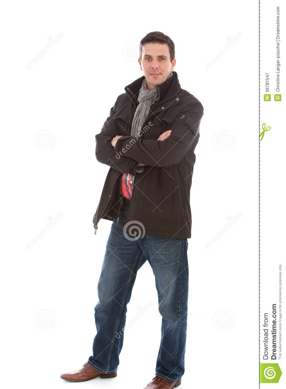 Smiling Man In Casual Winter Fashion Stock Image - Image ...