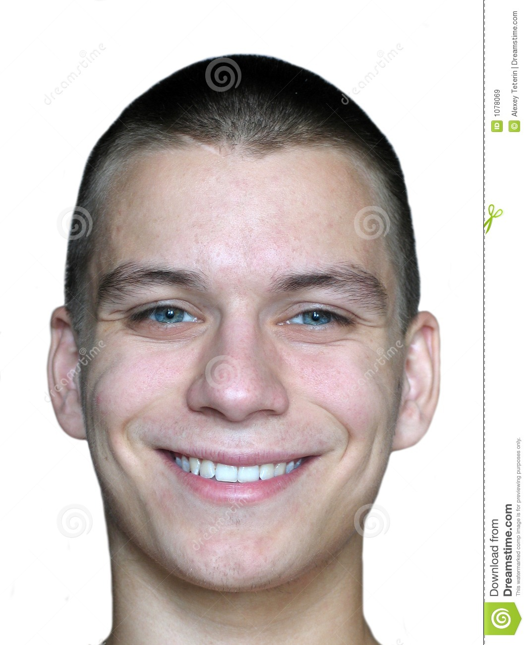 Smiling Man's Face Royalty Free Stock Images - Image: 1078069