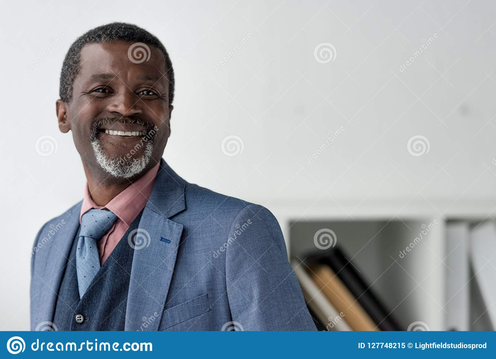 smiling mature african american man