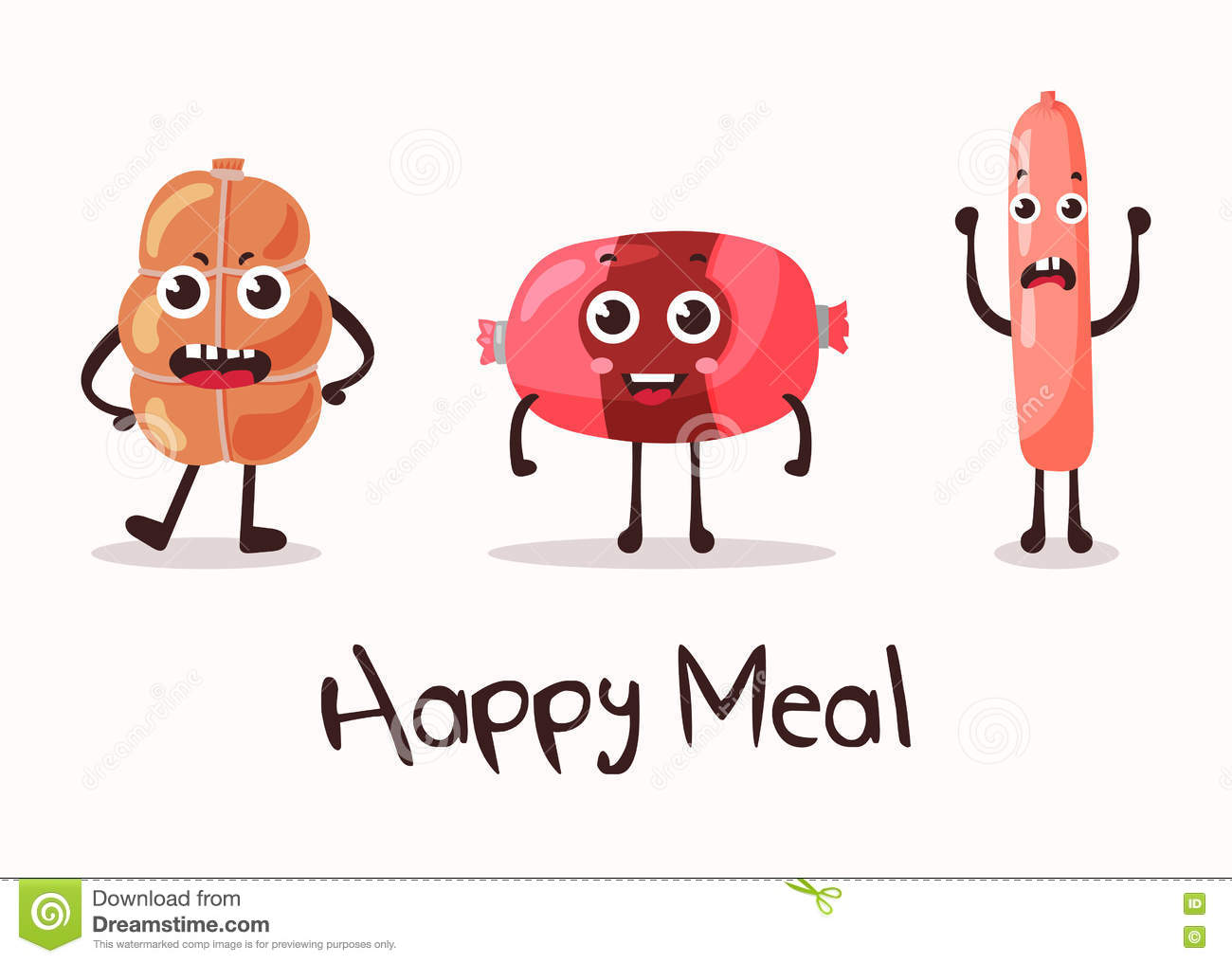 100 Pictures Cartoon Characters smiling meat cartoon character. stock vector - illustration