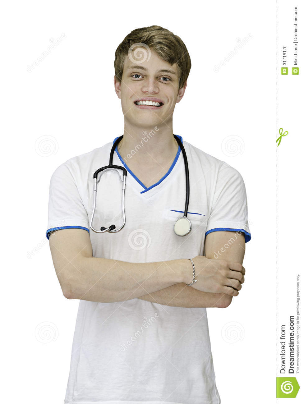 Male nurse or doctor