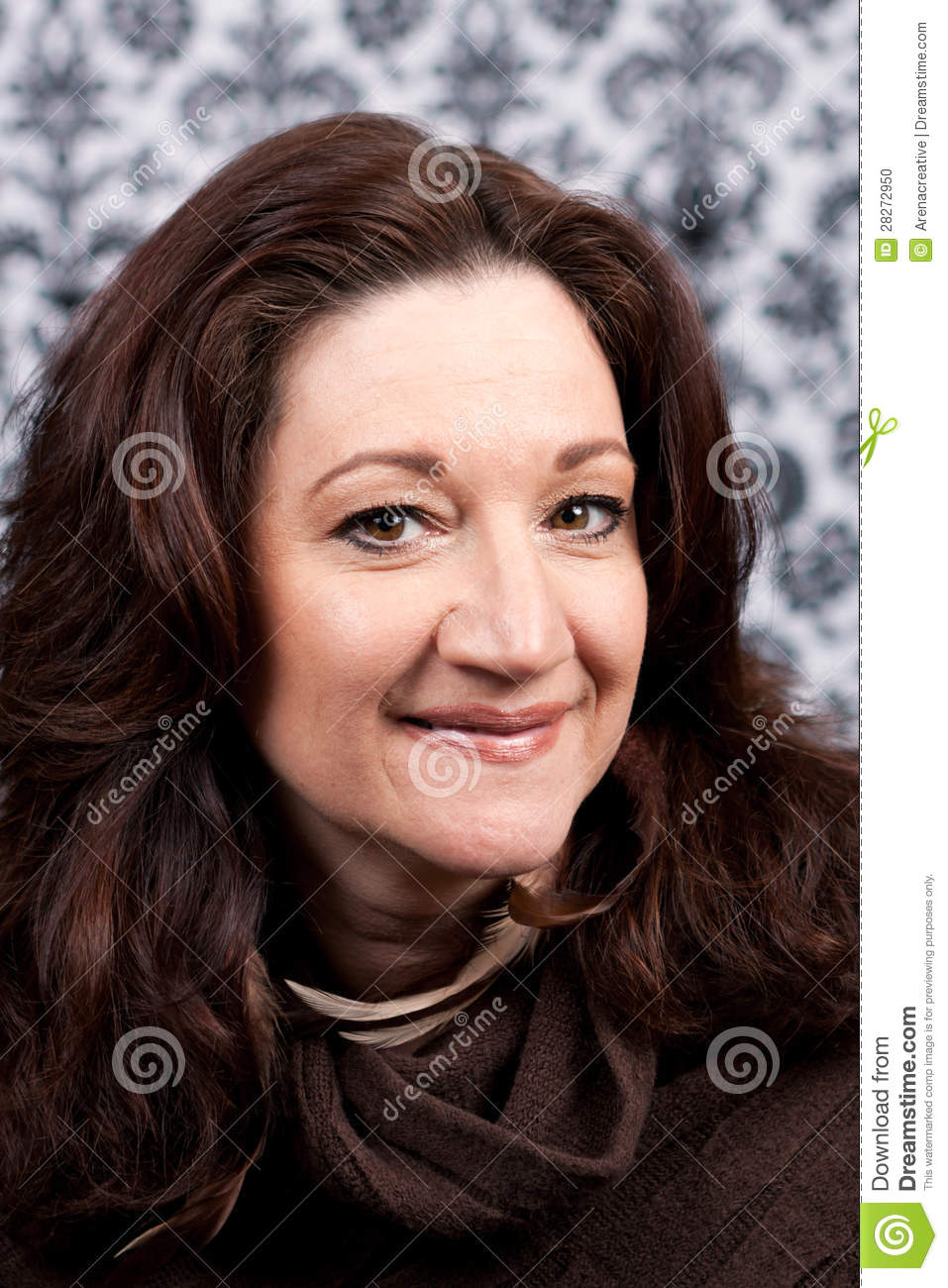 Middle aged brunette woman