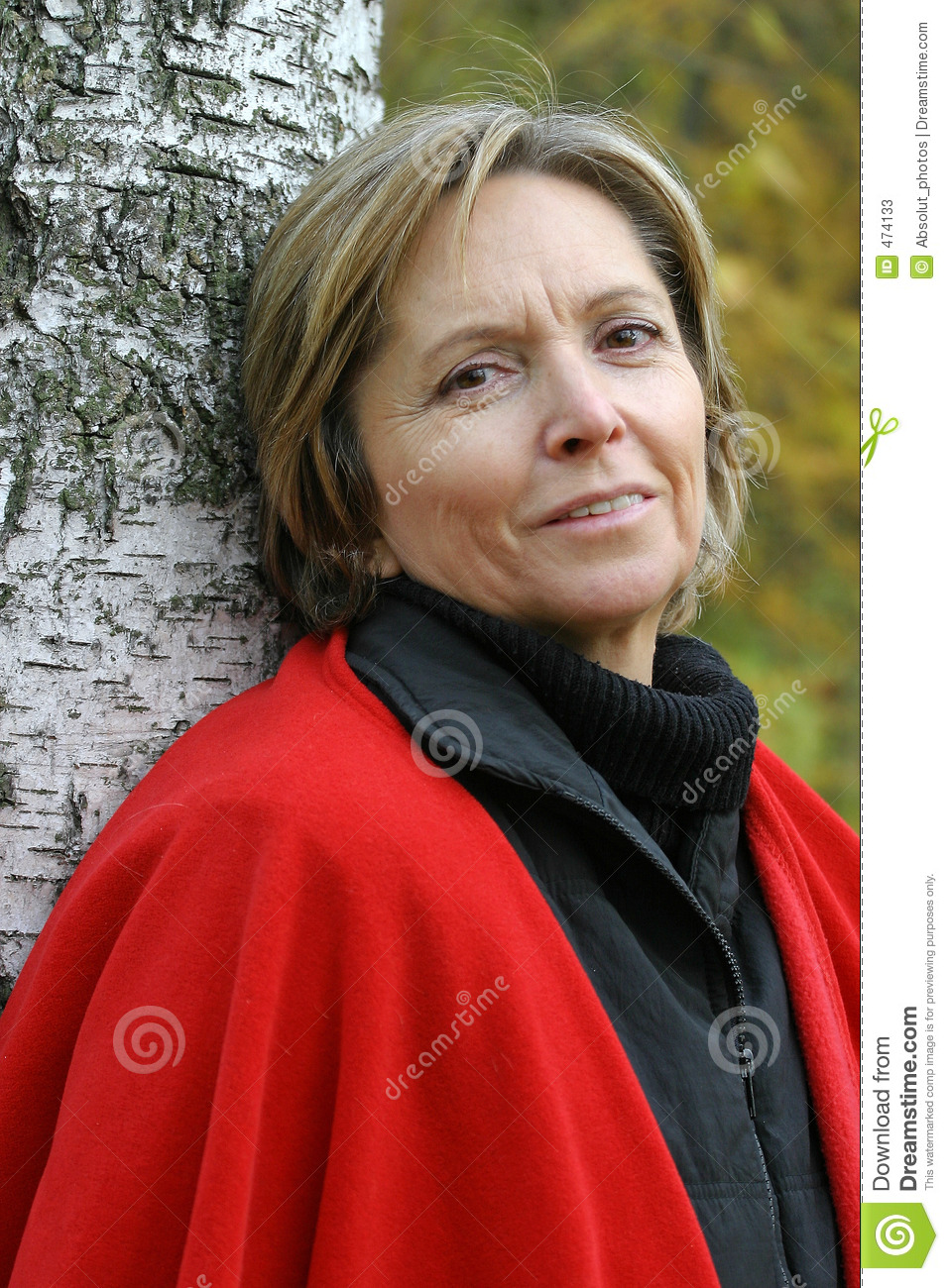 Smiling middle-aged woman