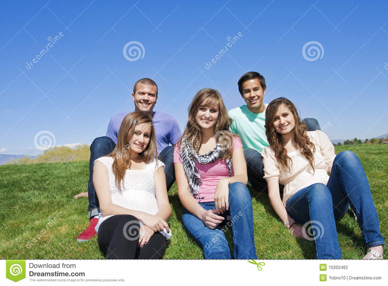 Smiling, Multi-racial group of Young Adults