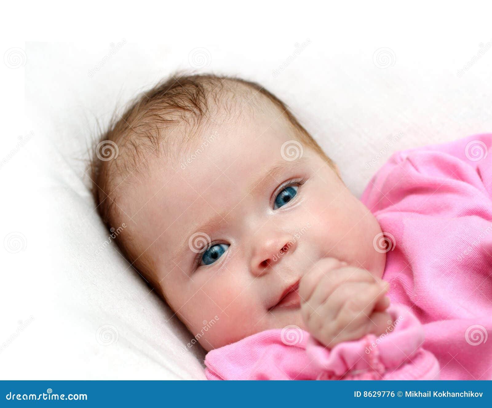 Smiling Newborn Baby Girl Royalty Free Stock Image Image