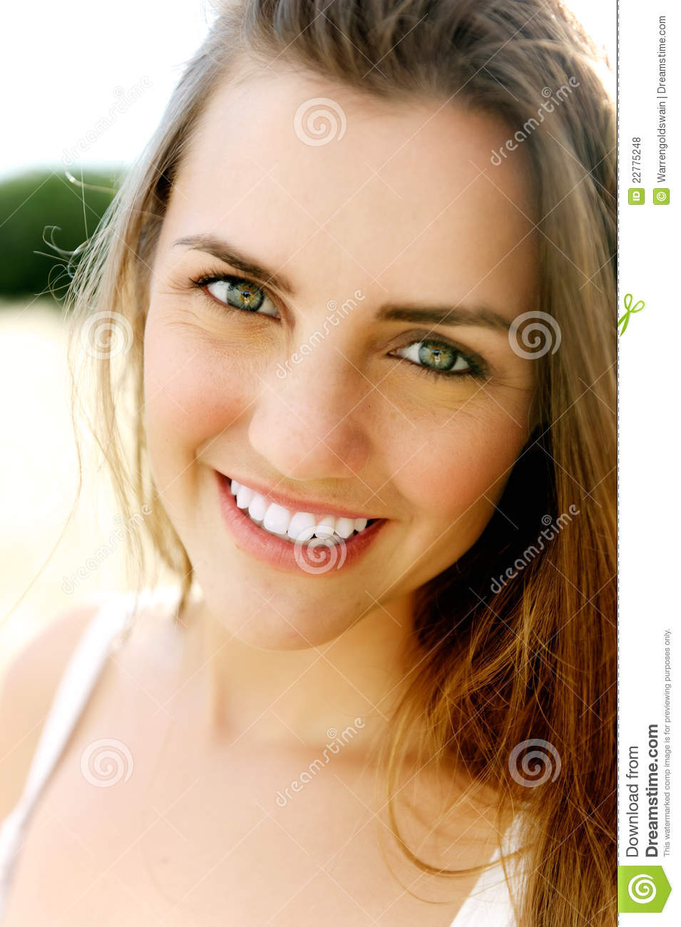 Smiling portrait of a gorgeous young woman