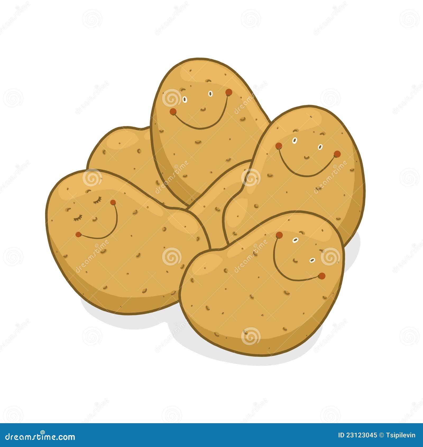 Potatoes Cartoon Royalty Free Stock Photo Image 23123045